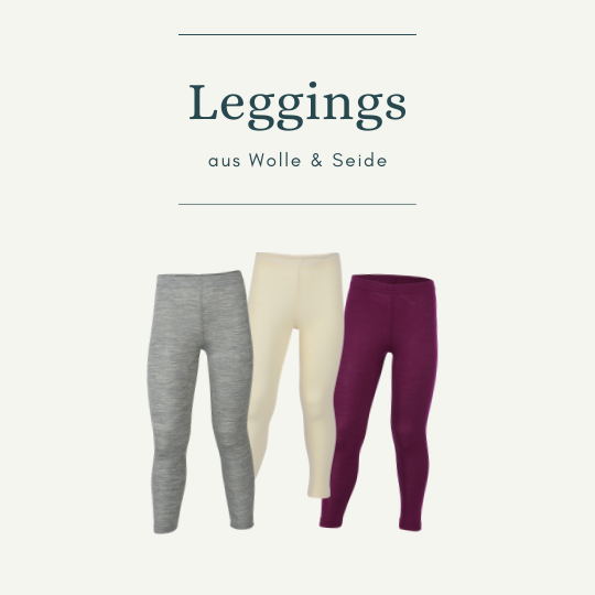 Leggings aus Wolle & Seide