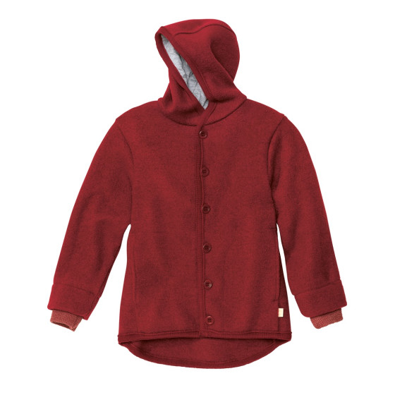 Disana, Wollwalk Jacke, bordeaux