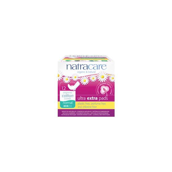 NatraCare, Damenbinden ultra extra, normal, 12 Stück